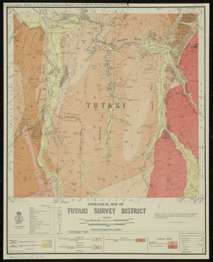 Geological map of Tutaki survey district [cartographic material] / drawn by G.E. Harris, 1935.