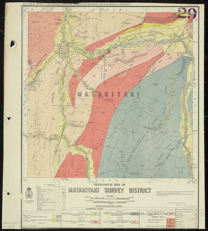 Geological map of Matakitaki survey district [cartographic material] / drawn by G.E. Harris, 1935.