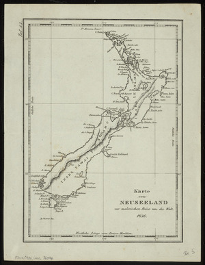 To the Right Honourable the Secretary of State for the Colonies, this chart of New Zealand [cartographic material] / from original surveys is respectfully dedicated by James Wyld.