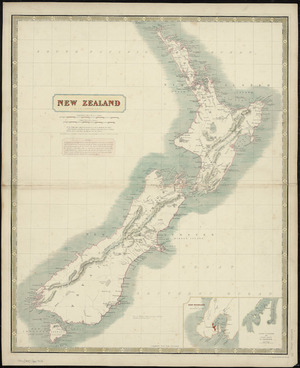 New Zealand [cartographic material] / by A.K. Johnston ; engraved by W. & A.K. Johnston.