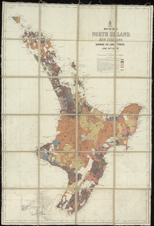 Map of the North Island, New Zealand, shewing the land tenure, June 30th 1879