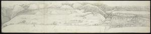 [Hilliard, George Richard] b 1801 :[Panorama of Port Nicholson. 1841. Part 1, Native Pah to Watt & Tyser's; and, Part 2, Watt and Tyser to south Lambton Quay].]