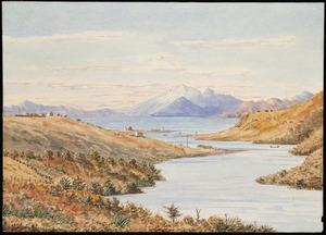 Chapman, Ernest Arthur, 1847-1930? :Taupo from the Waikato River. 1874