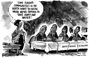 Evans, Malcolm Paul, 1945- :'Some flooded communities in the North want to know when we're coming to take away our water!' 24 July 2012