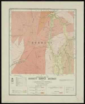 Geological map of Burnett survey district / drawn by G.E. Harris, 1935.