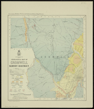 Geological map of Cromwell Survey District [cartographic material] / drawn by R.J. Crawford.