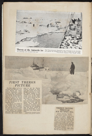 Trans-Antarctic Expedition (1955-1958) :[Photographs of the 'Theron' in the Antarctic. 1956-1958]