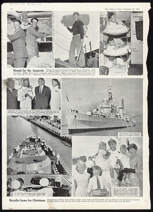 Weekly News (Newspaper. 1934-1964) :Bound for the Antarctic; Royalist home for Christmas The Weekly news, December 26, 1956, page 30]