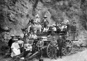 Unidentified group on a wagon