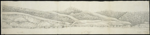 [Hilliard, George Richard] b 1801 :[Panorama of Port Nicholson 1841. Part 3, Lambton Quay to Bowen Street; and 4, northern Lambton Quay and The Terrace]]