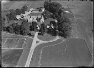 Aerial view of St Peter's School, Cambridge, New Zealand