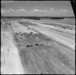 Aerial view of Mangere Airport under construction