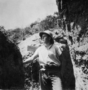 New Zealand soldier in a trench, Gallipoli, Turkey