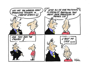 """Hubbard, James, 1949- :""""Why are you worried about unquaified teachers in charter schools??"""" ... 6 August 2012"""