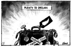 Evans, Malcolm Paul, 1945- :Plenty to declare ... 15 August 2012