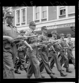 2nd Battalion marching through Wellington street before leaving for Malaya