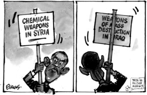 Evans, Malcolm Paul, 1945- :Chemical weapons in Syria. Weapons of mass destruction in Iraq. 22 August 2012