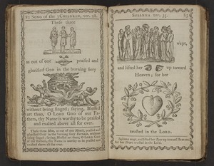 A curious hieroglyphick Bible; or, select passages in the Old and New Testaments, represented with emblematical figures, for the amusement of youth: Designed Chiefly To familiarize tender Age, in a pleasing and diverting Manner, with early Ideas of the Holy Scriptures. To Which Are Subjoined, A short Account of the Lives of the Evangelists, and other Pieces, illustrated with Cuts.