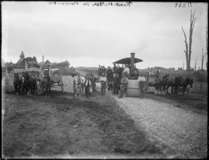 Road construction, Brecon Road, Stratford, Taranaki