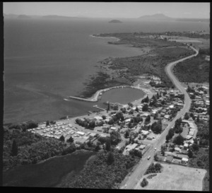 View of Motuoapa and Lake Taupo