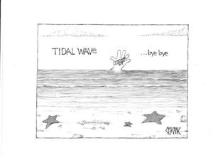 Tidal wave ... bye bye. 4 November 2009