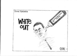 White out - Hone Harawira. 7 November 2009