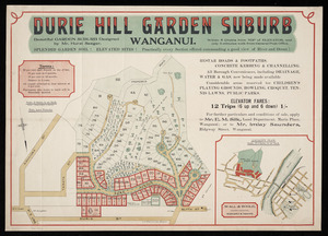 Durie Hill garden suburb, Wanganui [cartographic material] / [surveyed by] Wall & Bogle.