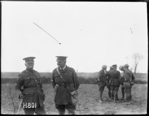 General Plumer and General Braithwaite, Bailleul, France, during World War I