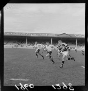 Rugby match, Wellington College Old Boys verses Wellington, Athletic Park, Wellington