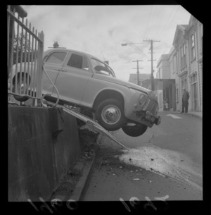 Car accident on Terrace and Woodward Street, Wellington