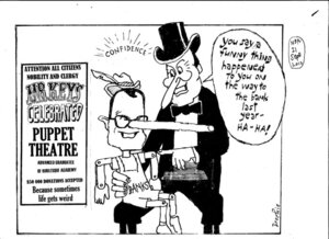 Brockie, Robert Ellison, 1932- :'You say a funny thing happened to you on the way to the bank last year - Ha-ha!'. 21 September 2012]