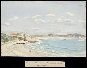 Artist unknown :Ocean Beach, Whangarei Heads, Mar 1900