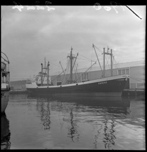 The coaster Pateke at Queens Wharf