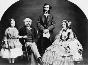 Governor Thomas Robert Gore Browne with his family and private secretary