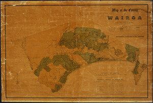 Map of the county of Wairoa [cartographic material] / lithographed and published by Dinwiddie, Walker & Co., Napier.
