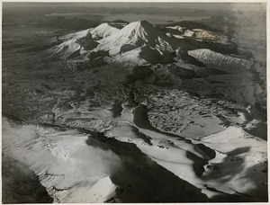 Mounts Ngauruhoe and Tongariro from the air - Photographed by whites Aviation