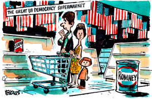 Evans, Malcolm Paul, 1945- :The Great US Democracy Supermarket. 16 October 2012