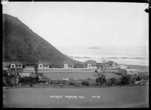 Freezing workers' cottages at northern end of Tokomaru Bay, East Coast