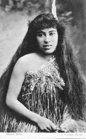 [Postcard]. Maori belle. F.T. series. no. 635. [ca 1910-20].