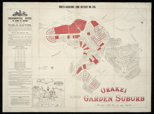 North Auckland land district. No. 134, Orakei, garden suburb [cartographic material].