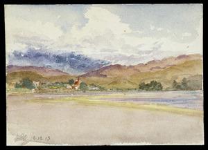 Smith, Maurice Crompton, 1864-1953 :[St Albans Church and Pauatahanui Inlet] 18.12.13.