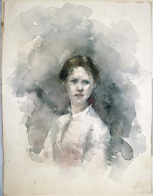 [Hodgkins, Frances Mary] 1869-1947 :[Portrait of a young woman]