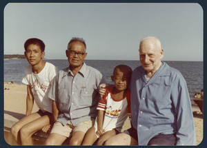 Rewi Alley with members of his Chinese family, China