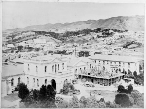 Newtown, Wellington, with the public hospital in the foreground