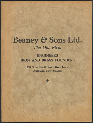 Beaney & Sons Ltd :Catalogue no 28. [Front cover. ca 1911].