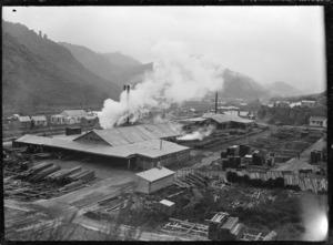 Timber mill at Mangapehi; Ellis & Burnand Ltd.