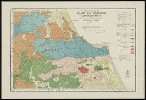 Geological map of Waipu and Mangawai survey districts [cartographic material] / drawn by G.E. Harris.