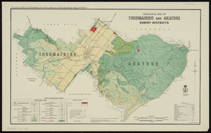 Geological map of Tokomairiro and Akatore survey districts [cartographic material] / drawn by G.E. Harris.