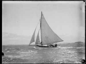 Yacht Arethusa, probably in Auckland - Photographer unidentified