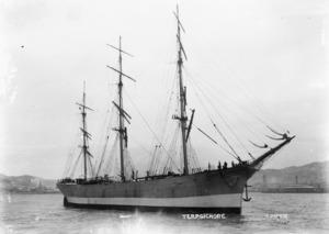 The sailing ship Terpsichore in Wellington Harbour